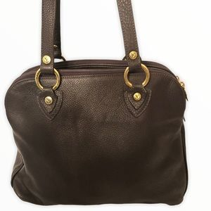 VALENTINA brown Italian leather made in Italy bag